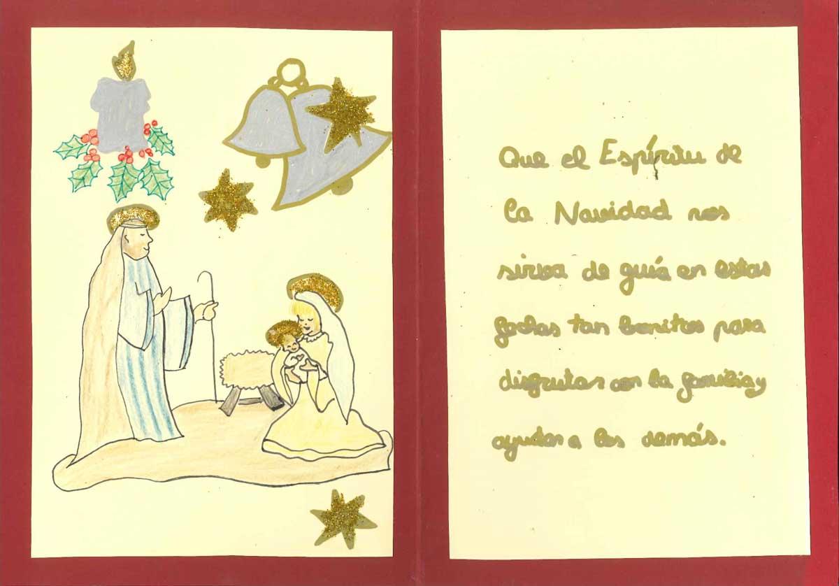 Mención por composición y material empleado: J.I. de 1º de ESO del Colegio La Anunciata de Trobajo del Camino (León).