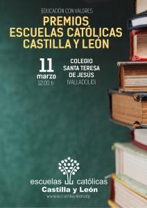 Cartel I edición de los Premios Escuelas Católicas Castilla y León