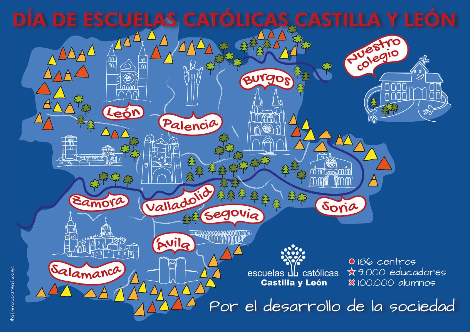 Dibujo Día de Escuelas Católicas Castilla y León 2017