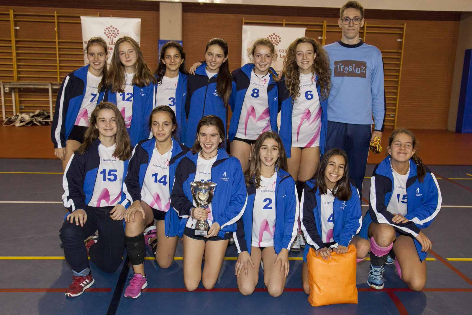 Colegio Maristas La Inmaculada (Valladolid), ganador en voleibol femenino