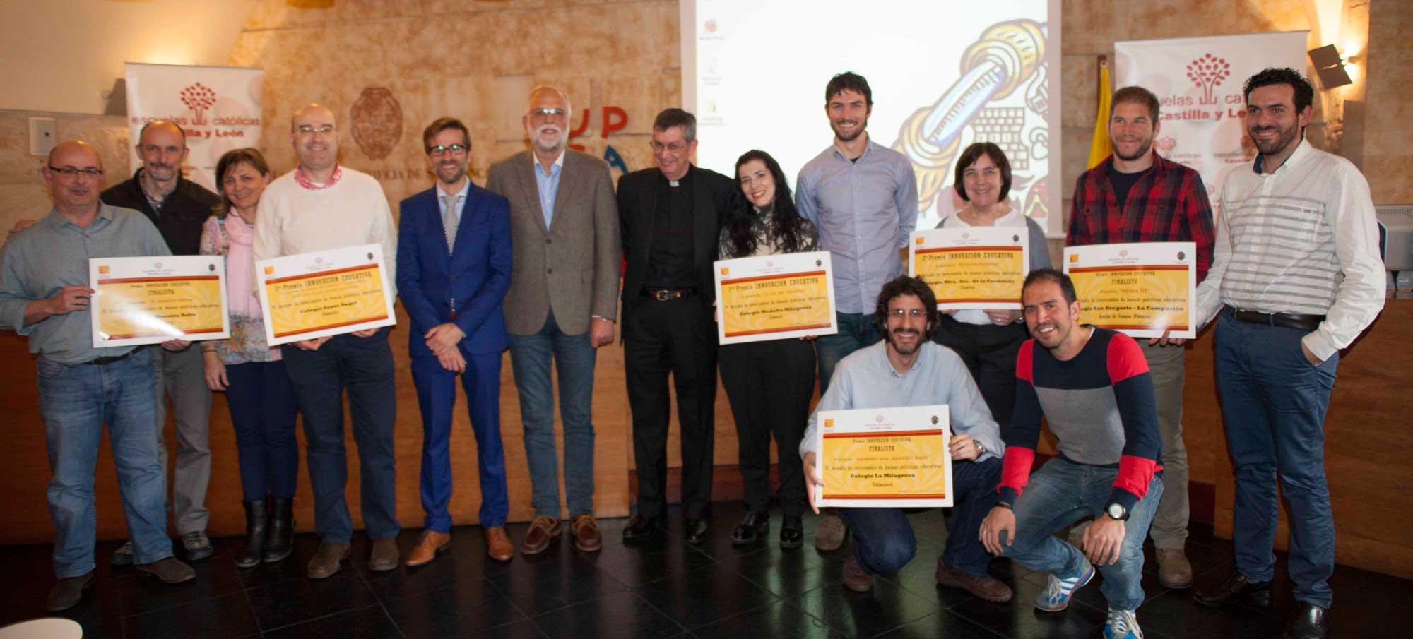 Ganadores y finalistas del V Premio de Buenas Prácticas Docentes de Innovación Educativa de Escuelas Católicas Castilla y León