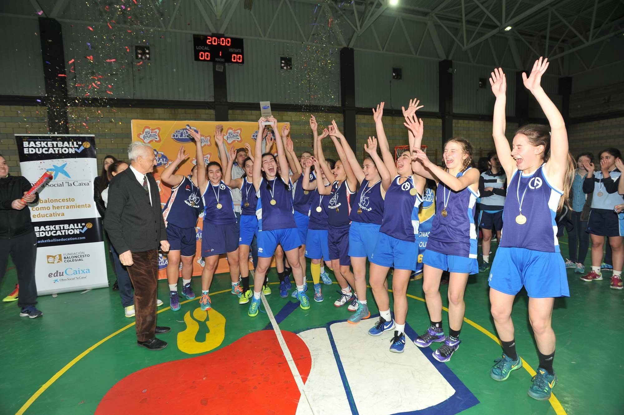 Colegio Agustinas, campeonas de la Copa-Colegial de baloncesto