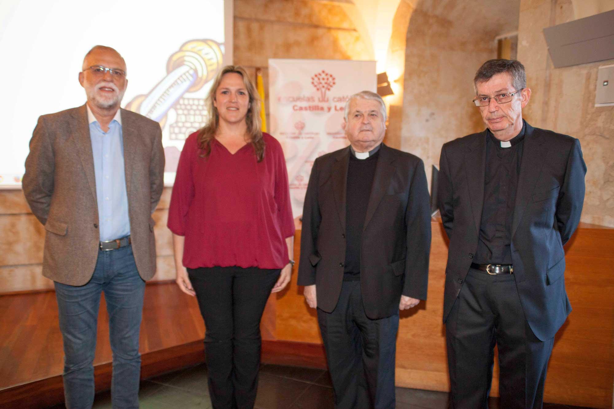 Antonio Guerra, Isabel Solana, Luis de Lezama y Santiago García-Jalón