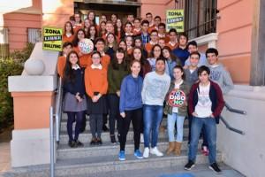 Los alumnos del Colegio Divina Pastora premiados por las buenas prácticas en la promoción de la convivencia en la modalidad II.