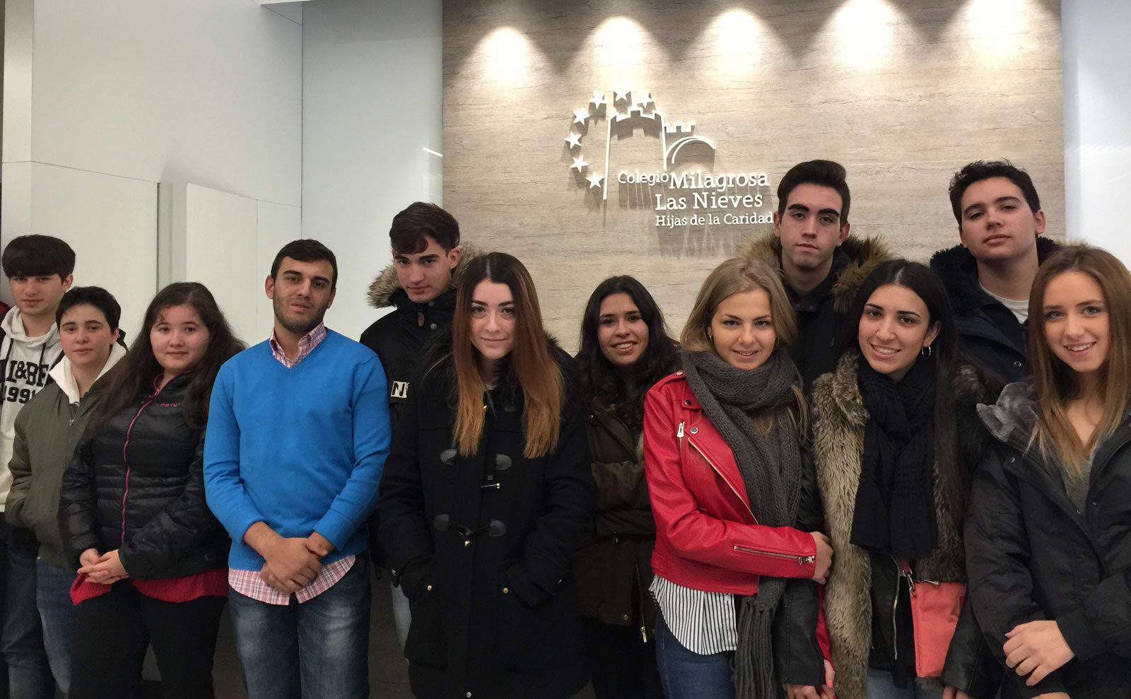 Alumnos del Colegio Milagrosa-Las Nieves de Ávila