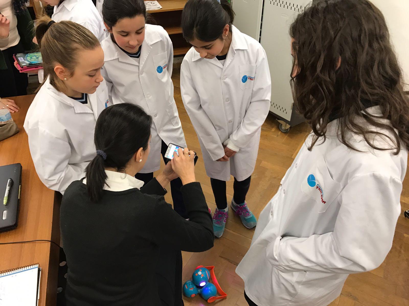 Practicando con los alumnos del colegio Trilema Sagrado Corazón de Soria