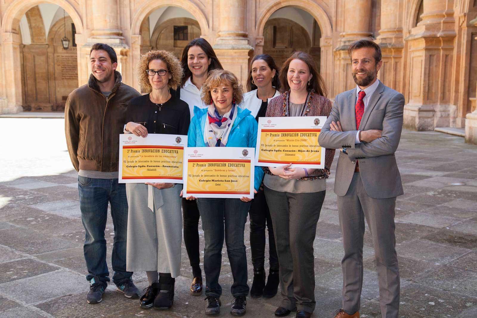 Galardonados del VI Premio de Buenas Prácticas Docentes de Innovación Educativa.