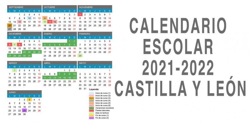 Calendario escolar 2021-2022 en Castilla y León