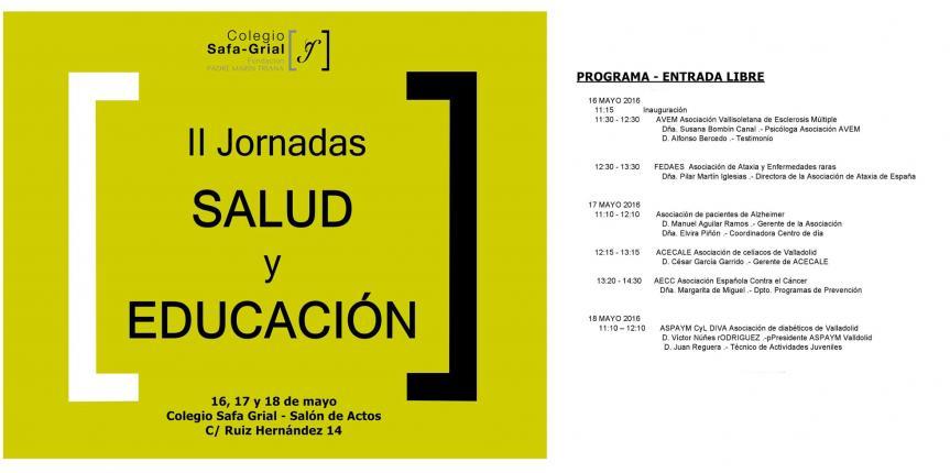 Segunda edición de las Jornadas de Salud y Educación en el Colegio Safa Grial de Valladolid