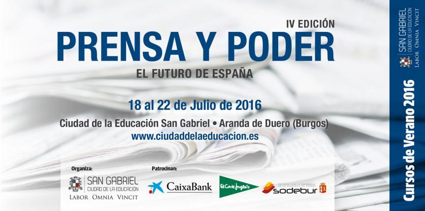 IV Curso de verano Prensa y Poder en el Colegio San Gabriel (Aranda de Duero)