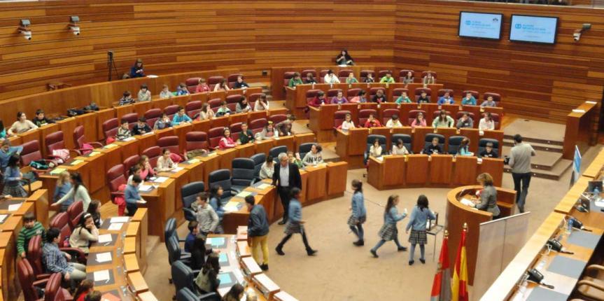 Los alumnos del Colegio Sagrado Corazón (Soria), diputados por un día