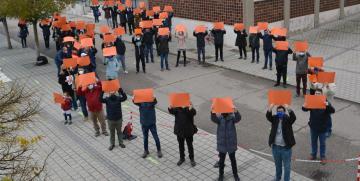 Los profesores de Cristo Rey (Valladolid) protestan contra la implantación de Ley Celaá