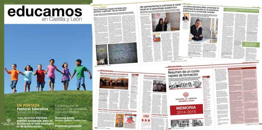 Ya está lista nuestra última revista del curso: Educamos en Castilla y León
