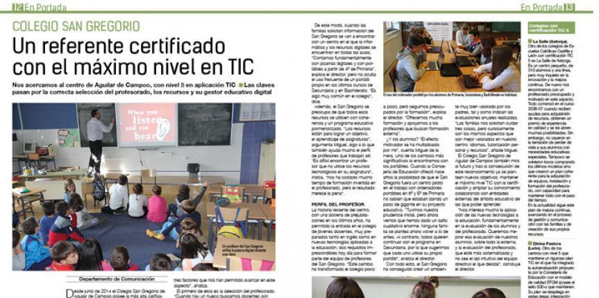 Ya disponible el número 27 de la revista 'Educamos en Castilla y León'