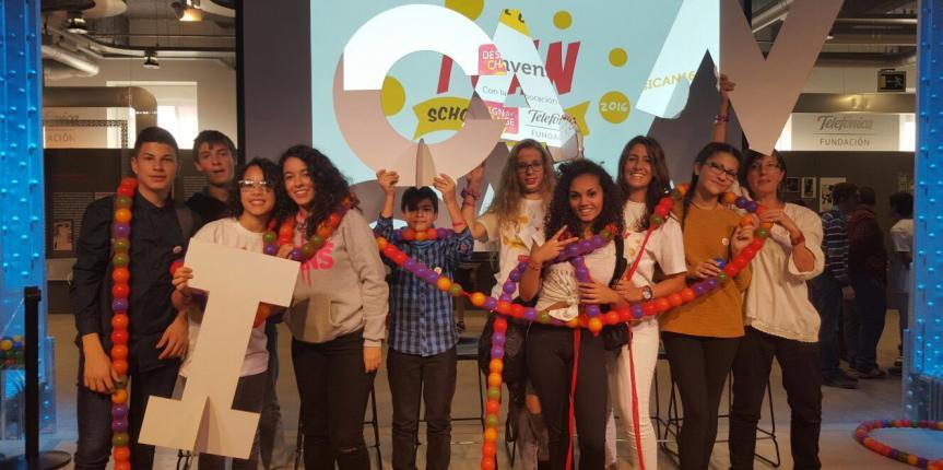 Alumnos del Colegio Santa María Micaela (Valladolid) participan en la final española de Design for Change
