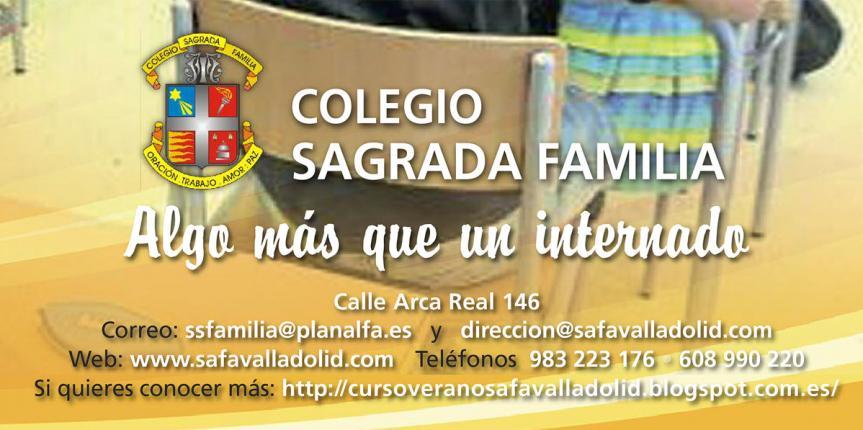 Curso de Verano 2020 del Colegio Internado Sagrada Familia (Valladolid)