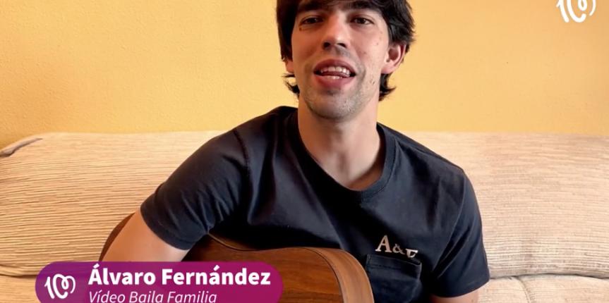 Álvaro Fernández, del Colegio San José (Valladolid) con su 'Canta Conmigo', ganador de 'Artista entre cuatro paredes' de la cuarentena de la Cadena 100