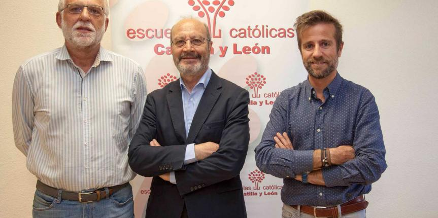 José María Alvira visita Escuelas Católicas Castilla y León