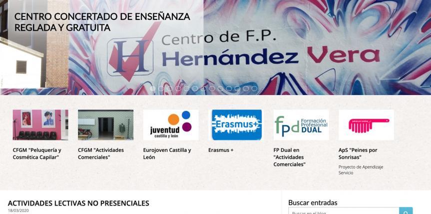 Educar en tiempos de coronavirus. Centro de FP Hernández Vera (Salamanca)