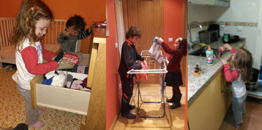 Sé que lo vas a hacer bien: la incorporación a las tareas domésticas desde pequeños