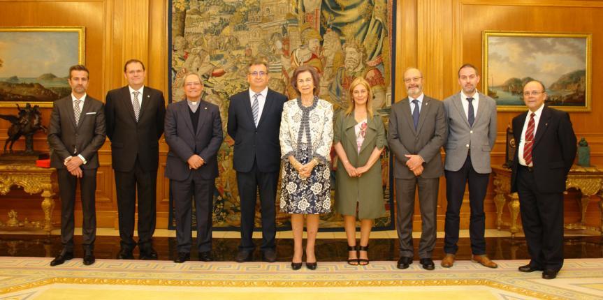 La Reina Doña Sofía recibe el Premio Extraordinario Escuelas Católicas Castilla y León