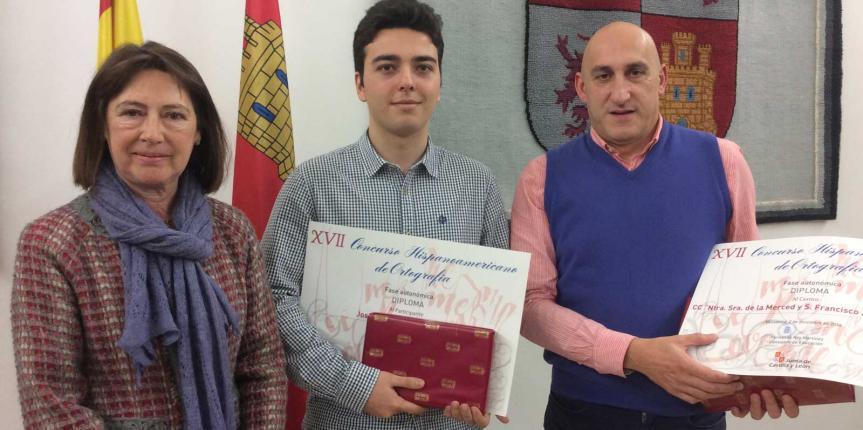 José Antonio Aguado del Colegio La Merced y San Francisco Javier Jesuitas (Burgos), segundo en la final del Concurso Hispanoamericano de Ortografía