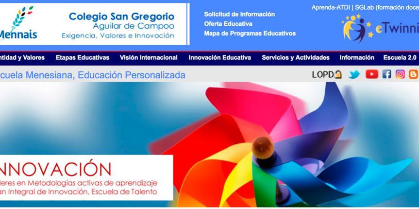 El Colegio San Gregorio (Aguilar de Campoo) entre las diez escuelas más innovadoras de España