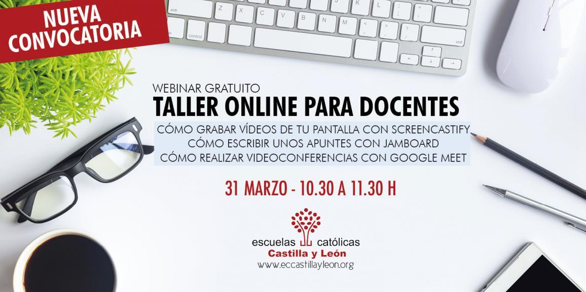 Taller online: Grabar vídeos con Sreencastify, apuntes con Jamboard, videoconferencias con Google Meet (31 marzo 10.30 h)