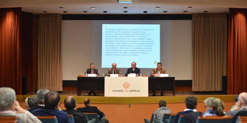 La enseñanza concertada mantiene sus reivindicaciones: Pacto educativo, libertad real de enseñanza y adecuada financiación