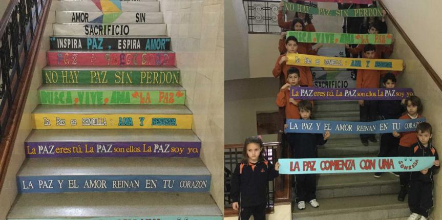 Día escolar de la No Violencia y la Paz en el Colegio Divina Pastora (León)