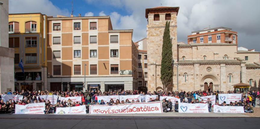 La educación concertada de Zamora se une para celebrar el Día de Escuelas Católicas Castilla y León 2018