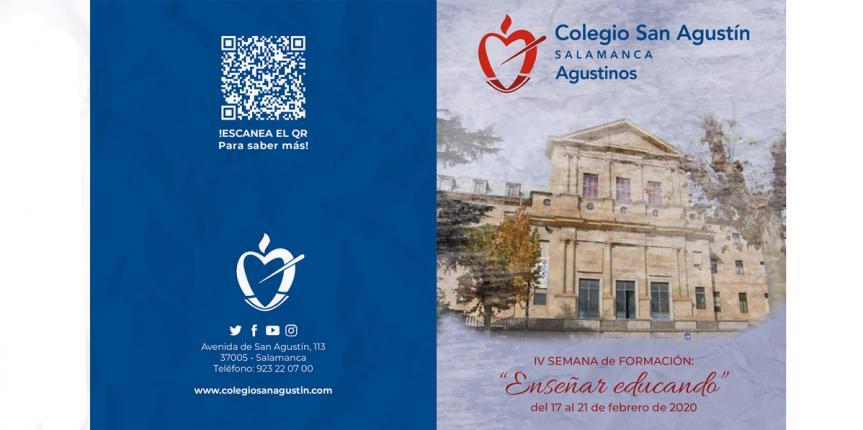 Arranca la cuarta edición de la Semana de Formación 'Enseñar Educando' del Colegio San Agustín (Salamanca) con la presencia de 80 ponentes