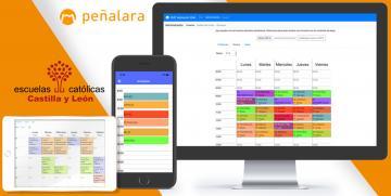 Acuerdo de colaboración de Escuelas Católicas Castilla y León con Peñalara Software