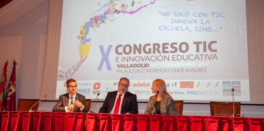 """X Congreso TIC e Innovación Educativa. Fernando Rey: """"Escuelas Católicas ofrece muchísimo al sistema educativo de Castilla y León"""""""