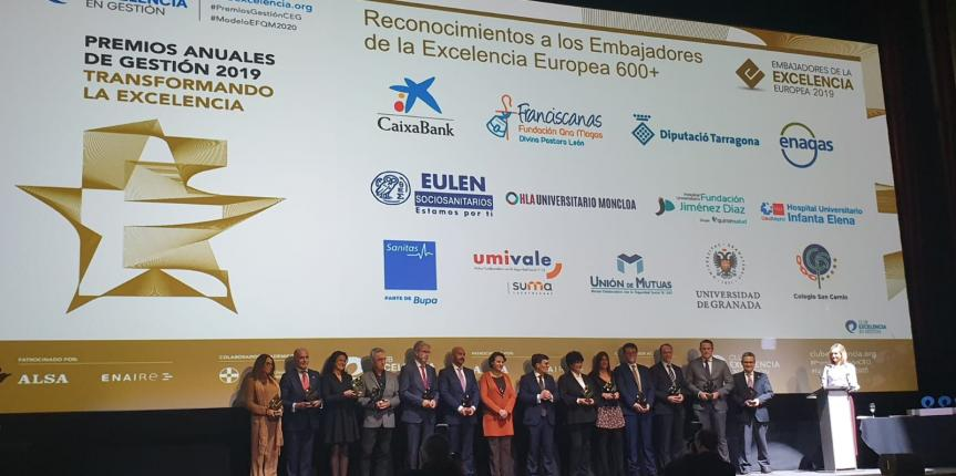 El Colegio Divina Pastora de León recibe el título 'Embajadores de la Excelencia Europea 2019'