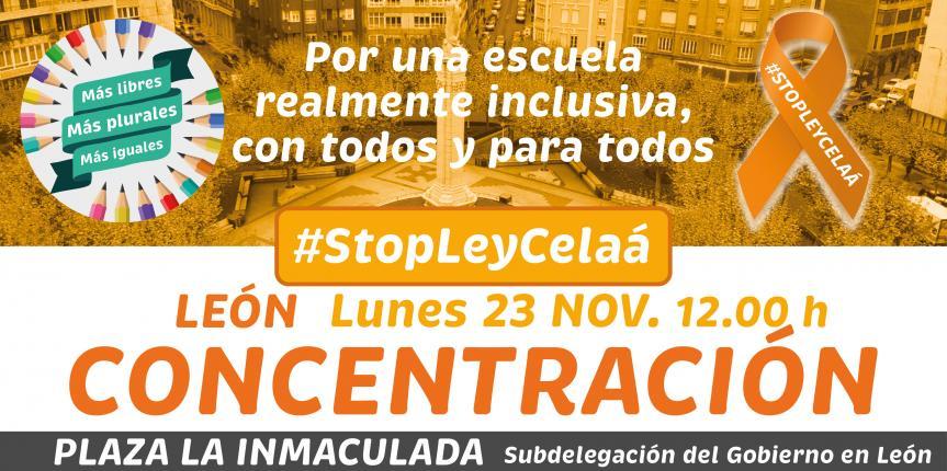 Concentraciones y más acciones de protesta para dar voz a la preocupación de la concertada de Castilla y León por la Ley Celaá