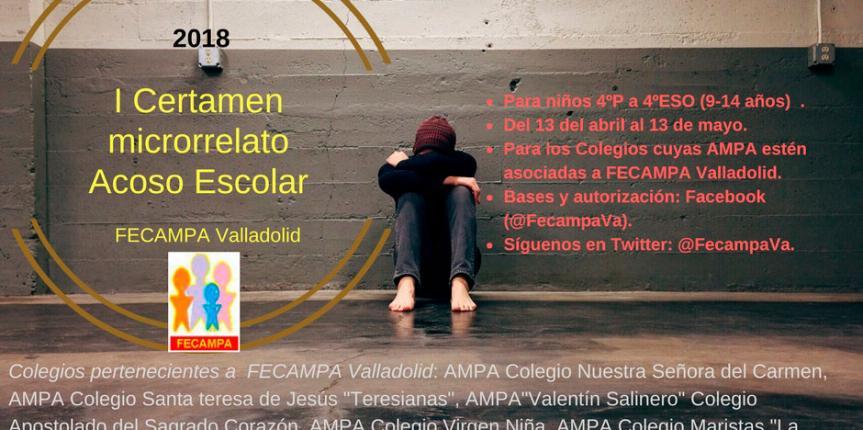 Fecampa Valladolid organiza el primer certamen de microrrelatos sobre el acoso escolar