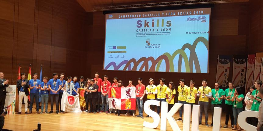 La soldadura del Centro Menesiano ZamoraJoven es medalla de oro en los Skills de Castilla y León