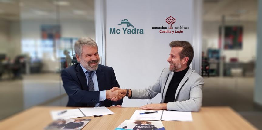 McYadra y Escuelas Católicas Castilla y León renuevan su acuerdo