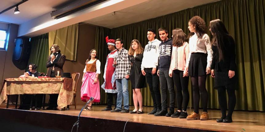 El Colegio Reinado Corazón de Jesús (Valladolid) rinde homenaje a José Zorrilla