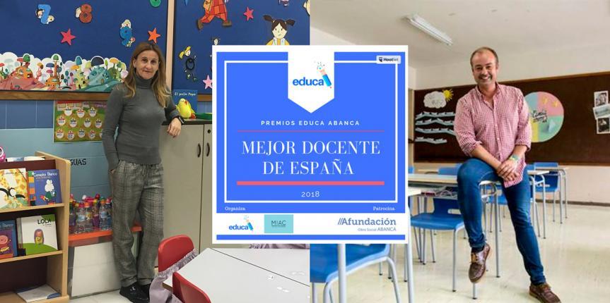 Dos profesores de Escuelas Católicas Castilla y León, finalistas de los Premios Educa Abanca al mejor docente de España 2018