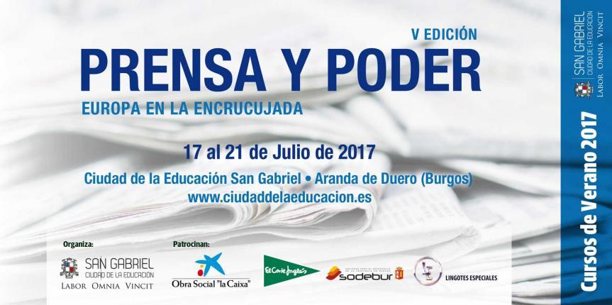 Quinta edición del curso de verano Prensa y Poder, en el Colegio San Gabriel (Aranda de Duero)