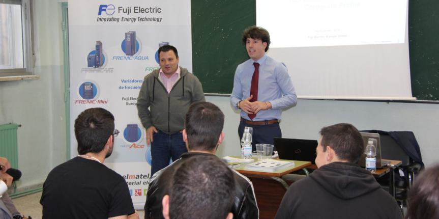 Fuji Electric forma a los alumnos de Electricidad de Salesianos Pizarrales (Salamanca)