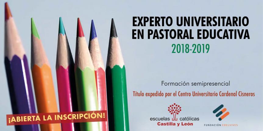 Título de Experto Universitario en Pastoral Educativa 2018-2019