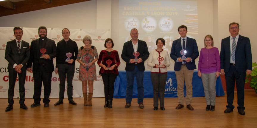 Premios Escuelas Católicas Castilla y León 2019. Centros y docentes ejemplares se suman a Cáritas en el reconocimiento anual de Escuelas Católicas