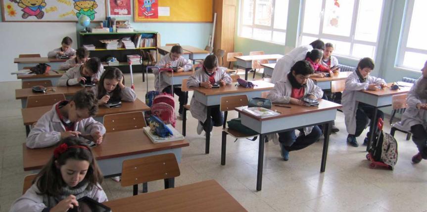 Proyecto con tablets en el Colegio San Miguel (Roa de Duero)